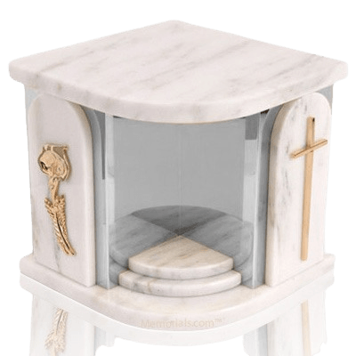 White Church Silver Urn For Two