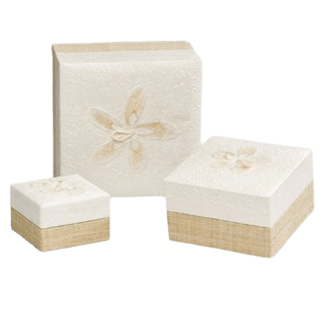 White Hemp Biodegradable Urns