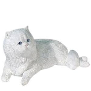 White Persian Cat Cremation Urn