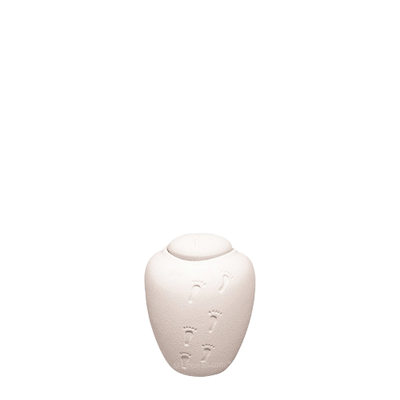 White Sand Biodegradable Small Urn