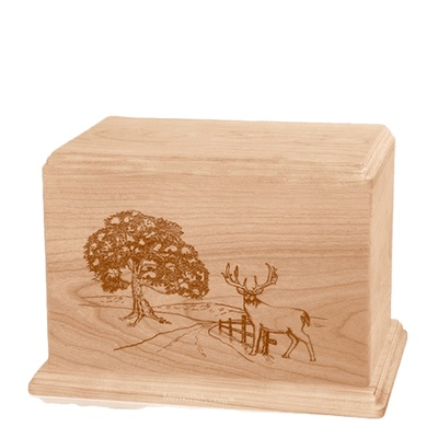 Whitetail Individual Maple Wood Urn