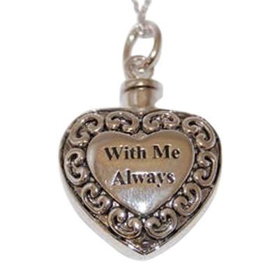 With Me Heart Keepsake Pendant