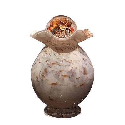 Wood Glass Cremation Urn