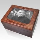 Wooden Photo Chest Cremation Urn