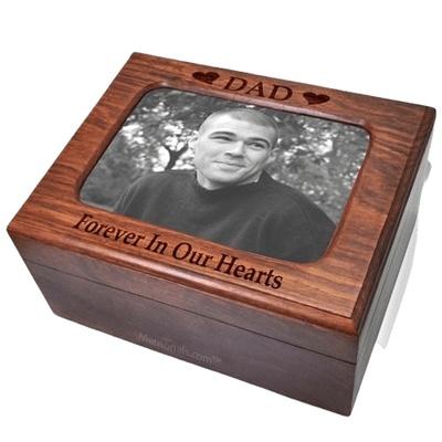 Wooden Photo Chest Cremation Urn