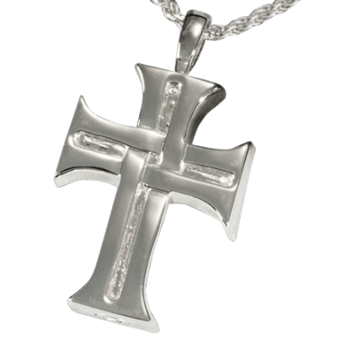Woven Cross Cremation Pendant