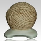 Yarn Ball Cream Cremation Urn