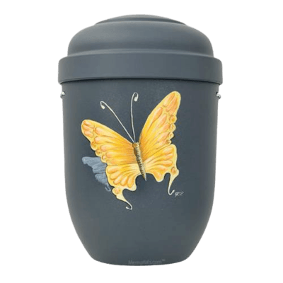 Yellow Butterfly Biodegradable Urn