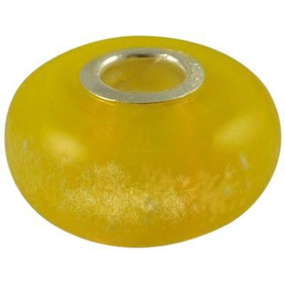 Yellow Elegance Cremation Ash Bead