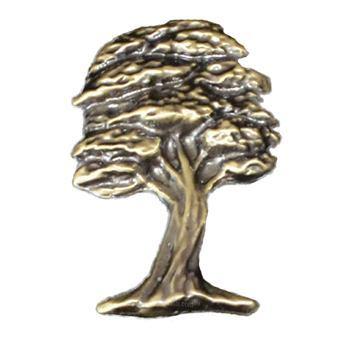 Antique Gold Oak Tree Emblem