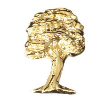 Gold Oak Tree Emblem