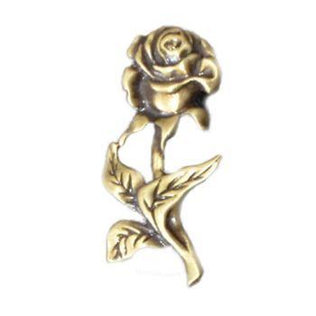 Antique Gold Rose Emblem