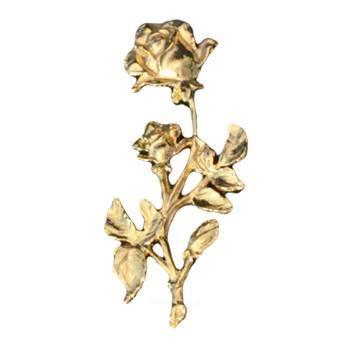 Gold Double Rose Emblem