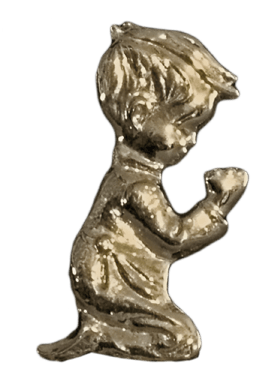 Antique Gold Girl Emblem