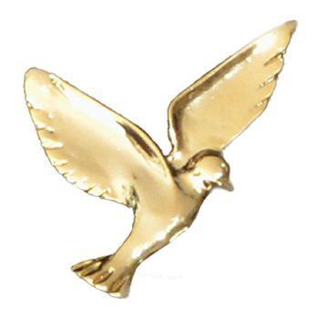 Gold Small Dove Emblem