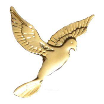Gold Flying Dove Emblem