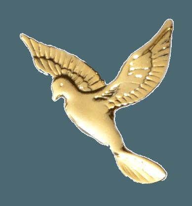 Gold Flying Dove Emblem II