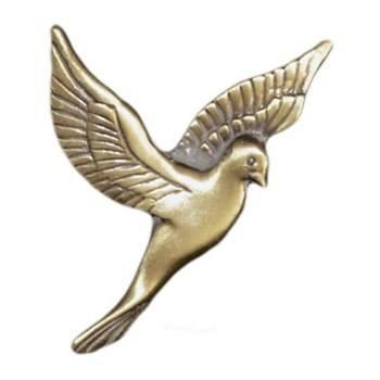 Antique Gold Flying Dove Emblem Left