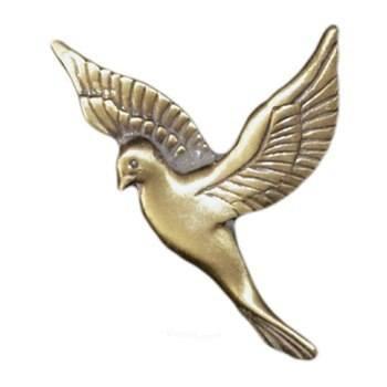 Antique Gold Flying Dove Emblem Right
