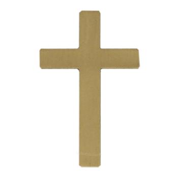 Antique Gold Simple Cross Emblem