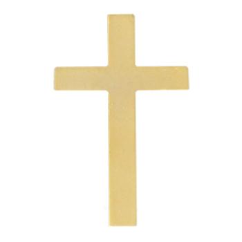 Gold Simple Cross Emblem