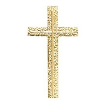 Gold Textured Cross Emblem