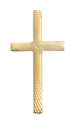 Gold Laced Cross Emblem