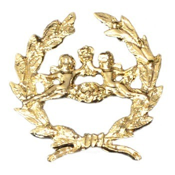 Gold Cherub Emblem