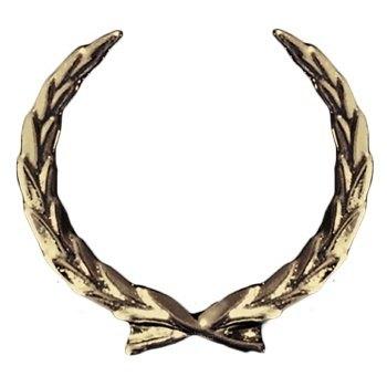 Antique Gold Wreath Emblem