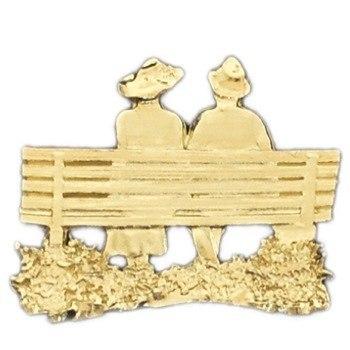 Gold Bench Couple Emblem