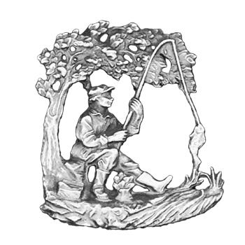 Silver Fisherman Emblem