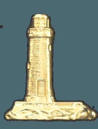 Gold Lighthouse Emblem