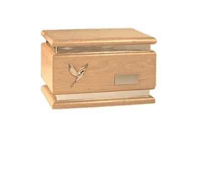 Zari Natural Wood Cremation Urn