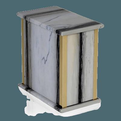 Zebra Bianco Marble Cremation Urns