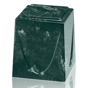 Evergreen Saturn Marble Cremation Urn