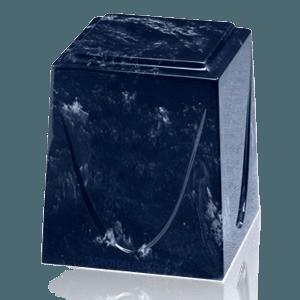 Navy Saturn Marble Cremation Urn