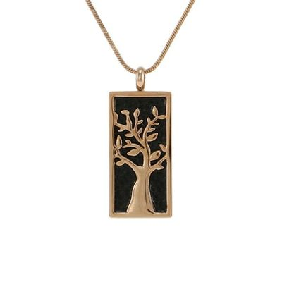 Adorned Tree Cremation Pendant III