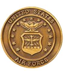 Air Force Coin Medallion Appliques