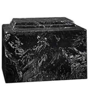 Amity Black Marble Cremation Urn