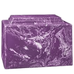 Amity Purple Marble Cremation Urn