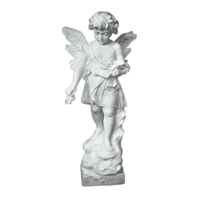 Tranquil Angel Granite Statue VIII
