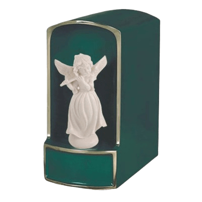 Angel with Flute Bronze Cremation Urn