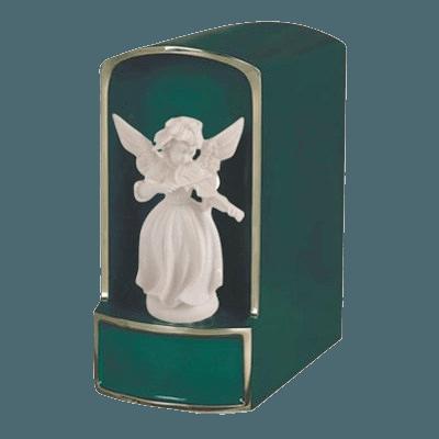 Angel with Violin Bronze Cremation Urn