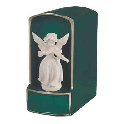 Angel with Violin Bronze Cremation Urn