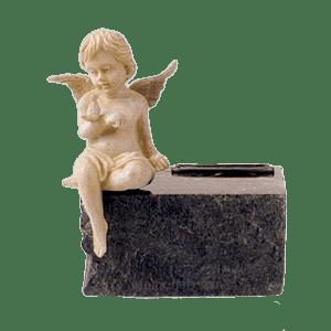 Infant Black Marble Angel Cremation Urns