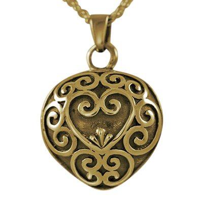 Antique Heart Keepsake Pendant II