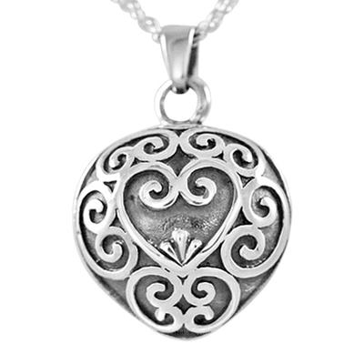 Antique Heart Keepsake Pendant