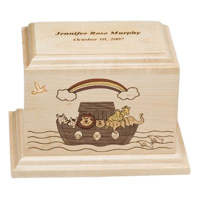 Noahs Ark Children Wood Urn