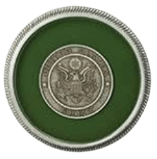 Army Green Medallion Appliques