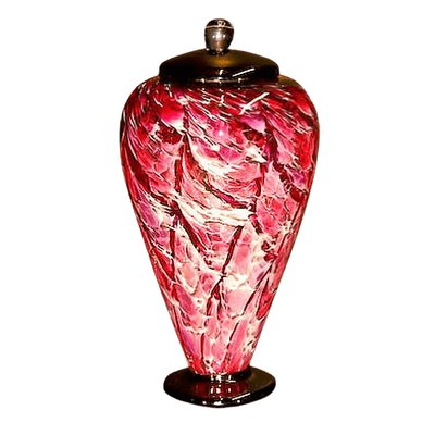 Lava Ruby Glass Cremation Urn